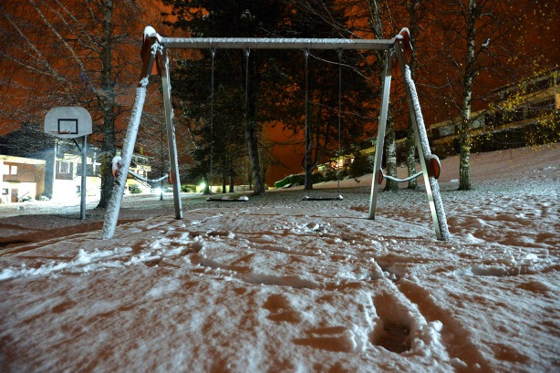 Snowy swings